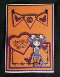 grungy teenage character stamp - barbed wire - skulls - hearts - visible image
