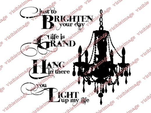 Visible Image stamps Chandelier stamp and sentiments x