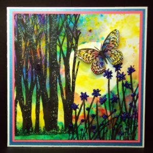Visible Image stamps - Forest Background - Large Butterfly - Tall Grass - Pauline Butcher