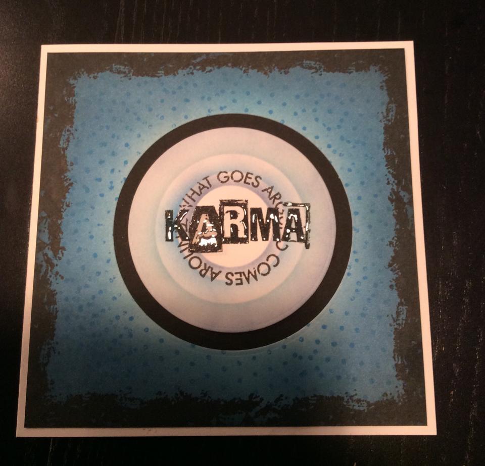 Visible Image stamps - Karma - What goes Around - Hazel Eaton