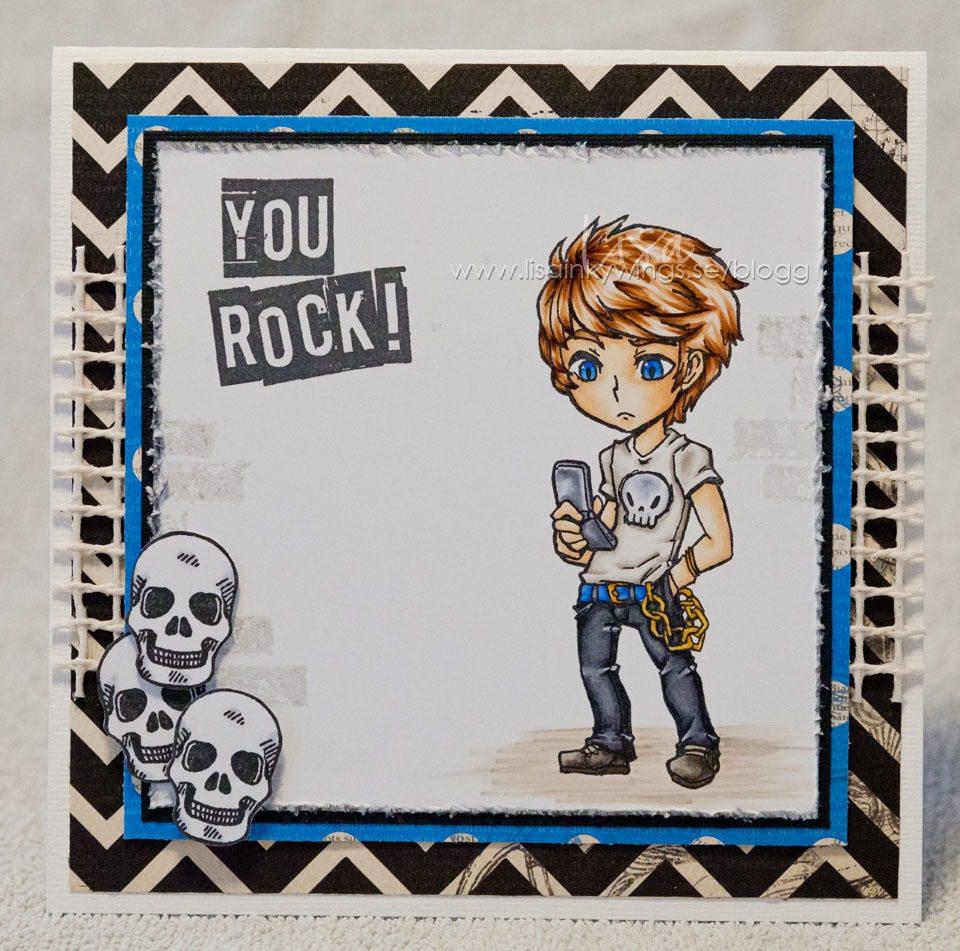 visible image stamps - Max Rocks - Teenage Boy card - Lisa Nygards 2