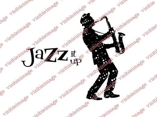 Visible Image INKognito Jazz it Up Sax Saxaphone stamps