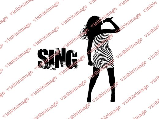 Visible Image INKognito Sing Singer Female stamps