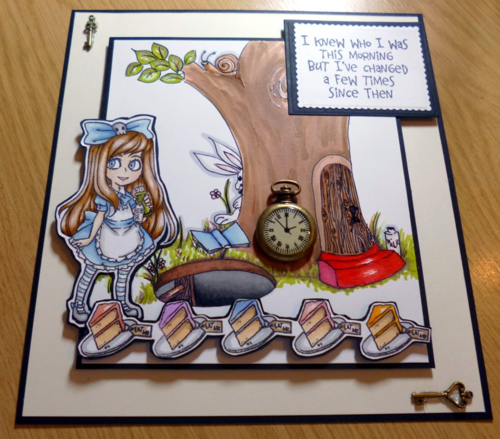 Visible Image stamps - Alice in Wonderland - card by Kim Robertson