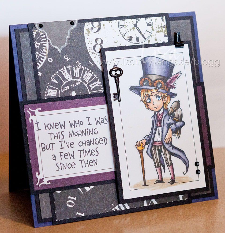 Visible Image stamps - Edgar - Steampunk character - Wonderland Quote - Lisa Nygards