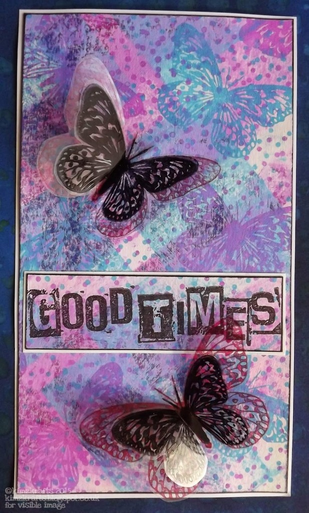 Visible Image stamps - Good Times - Butterfly - Kim Bacon