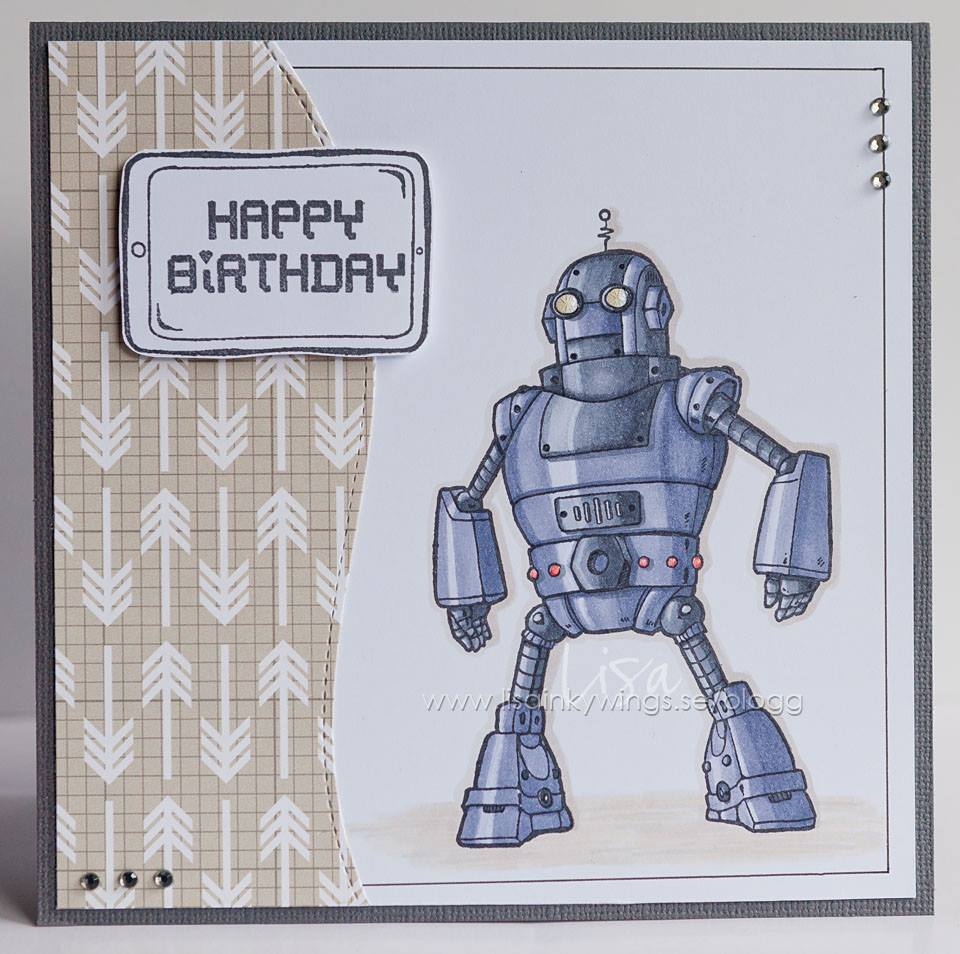 Visible Image stamps - Robot - Lisa Nygards