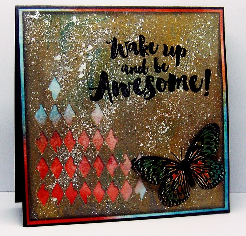 Visible Image stamps - Wake Up Awesome - Doreen OBrien