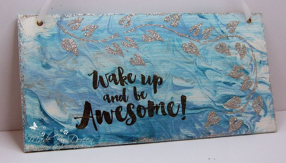 Visible Image stamps - Wake Up and Be Awesome - Doreen OBrien