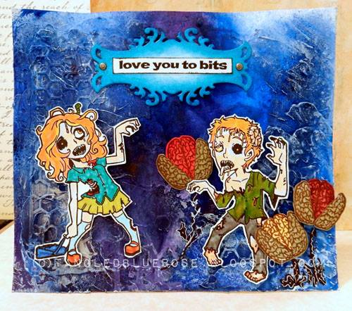 Visible Image stamps - Zombie Man & Woman - Love Youu To Bits - Kim Johnny