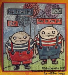 Tweedledee Tweedledum - Visible Image stamps - Kim Bacon