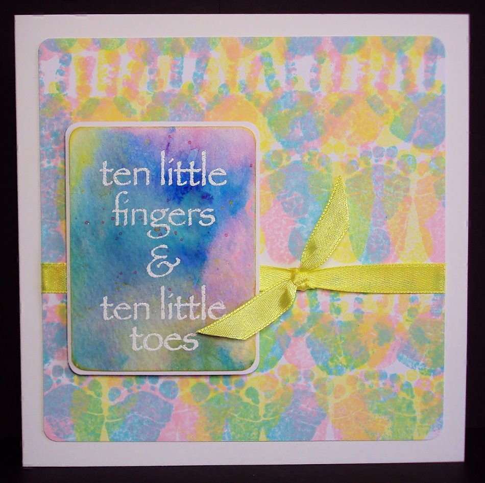 Visible Image stamps - Ten little Fingers - Baby hands & feet - Pauline Butcher