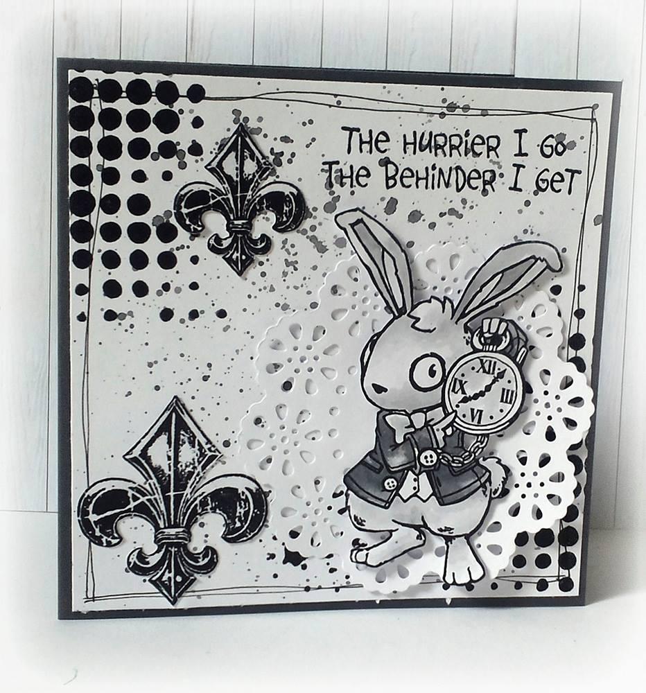 2015-08-01 Visible Image stamps - Wonderland White Rabbit - Susanne Rose
