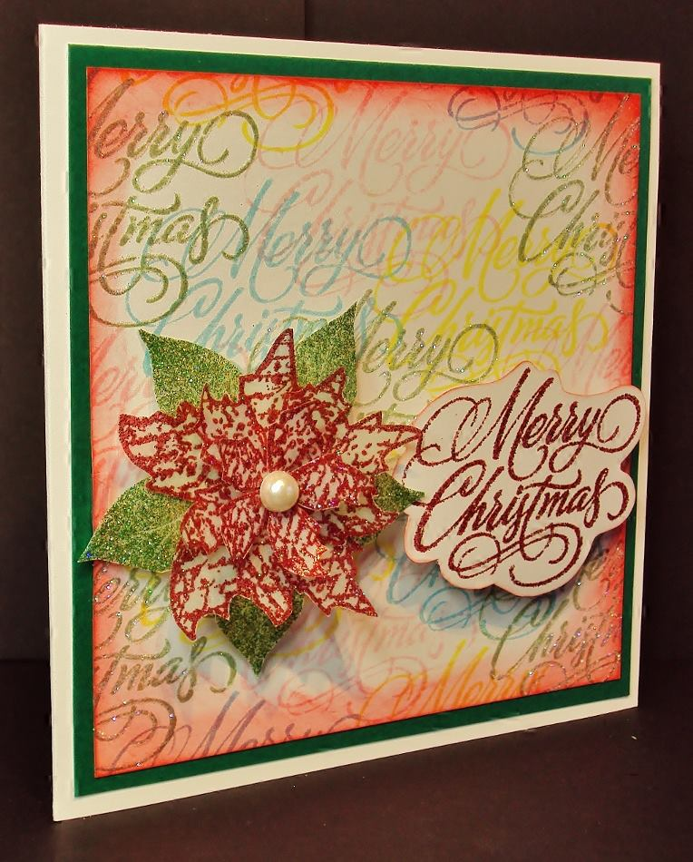 2015-11-12 - Visible-Image-stamps-Merry Christmas-Poinsettia-Pauline Butcher