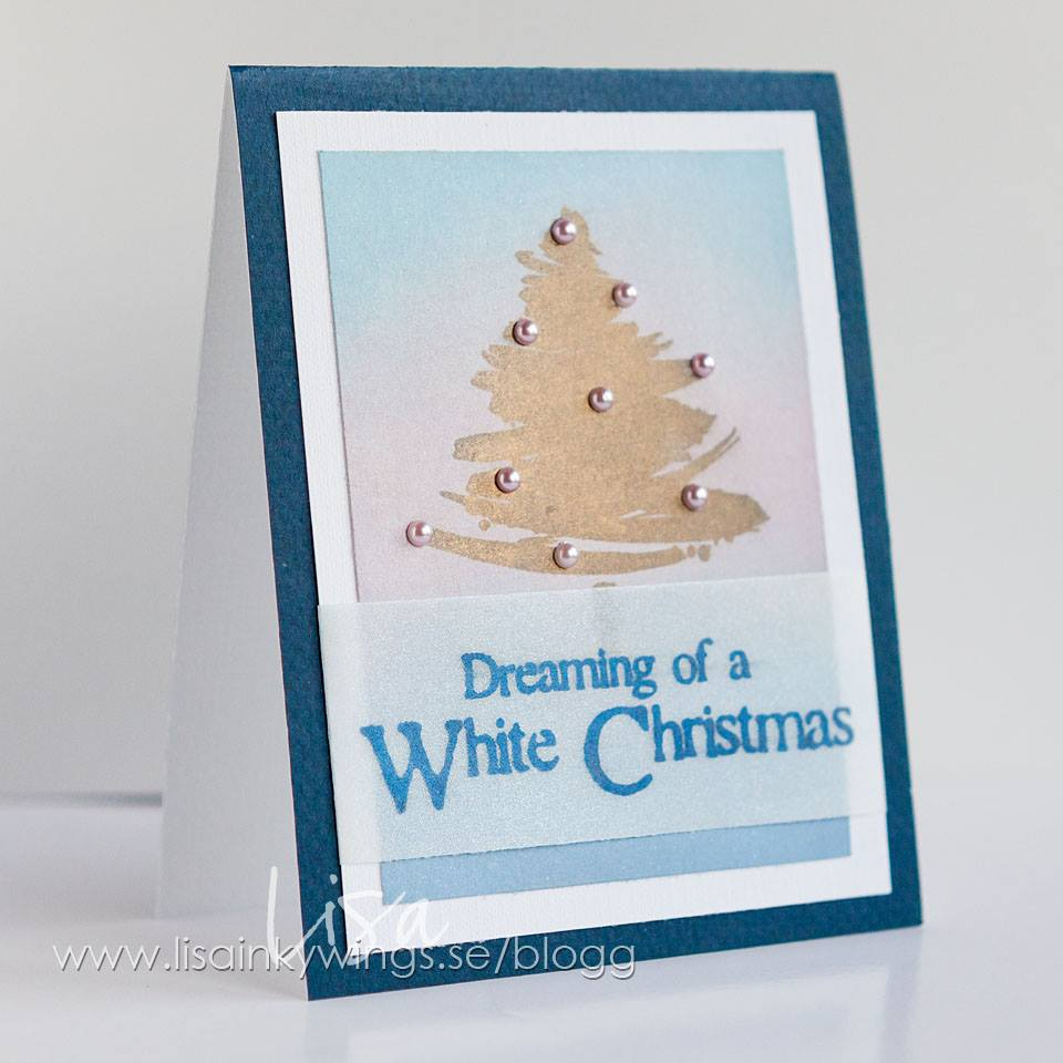 2015-11-12 Visible Image stamps - White Christmas sentiment - Brush Christmas tree stamp - Lisa Nygards