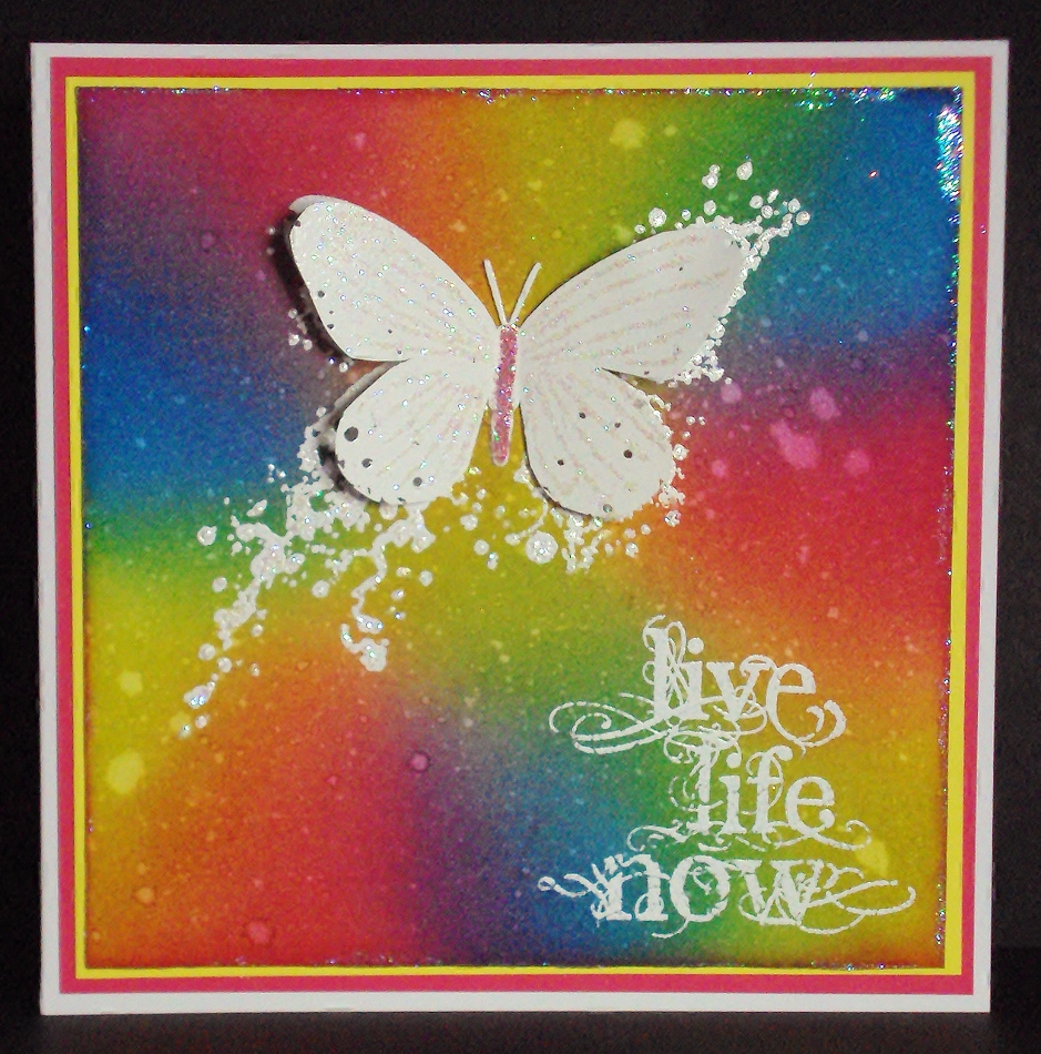 Visible Image stamps - Inky Butterfly - Live Life Now - Pauline Butcher