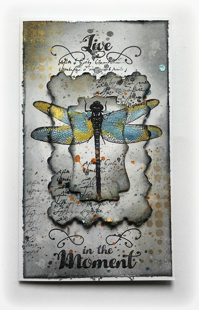 Visible Image stamps - Live In The Moment - Dragonfly stamp - Susanne Rose