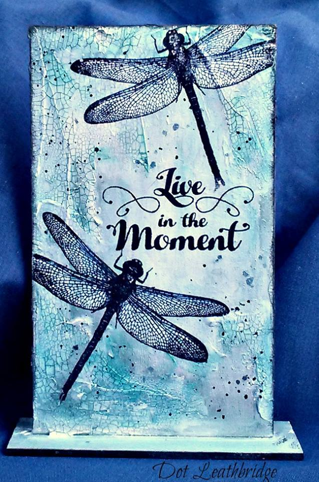 Visible Image stamps - MDF Monolith - Live IN The Moment - Dragonfly - Dot Leathbridge
