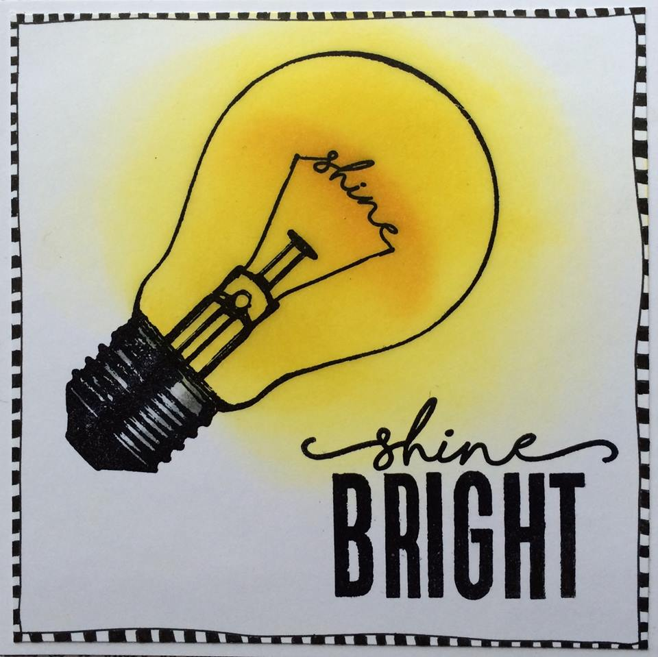 Visible Image stamps - Shine Bright - Light Bulb stamp - Corrie Herriman 2