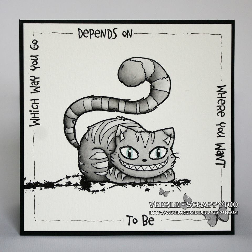 Visible Image stamps - Cheshire Cat character stamp - Veerle Moreels