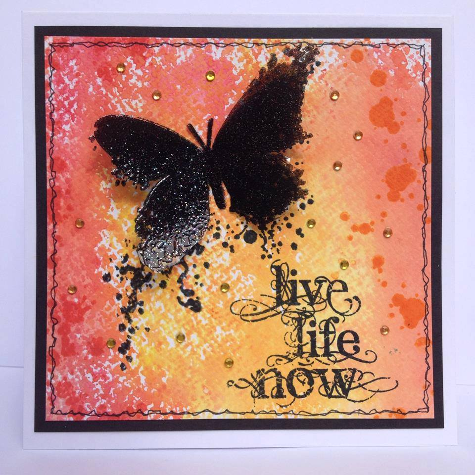 Visible Image stamps - Butterfly INKognito - Live Life Now - Nicky Gilburt 3