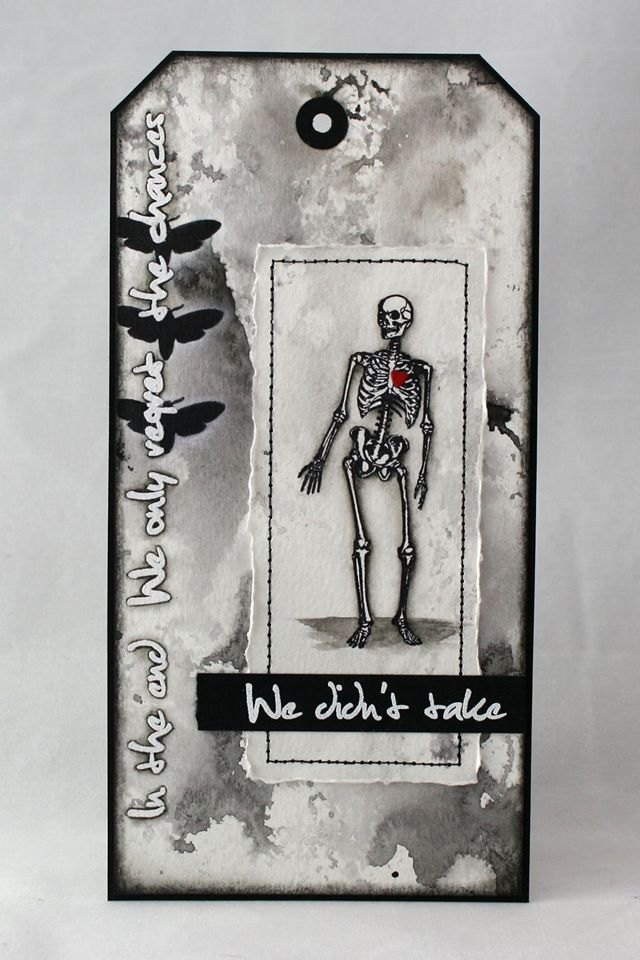 2017-01-22 Visible Image - stamps - skeleton - take chances quote - Veerle Moreels