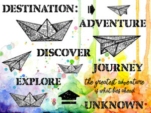 Visible Image Destination Unknown paper boat plane COL stamp set
