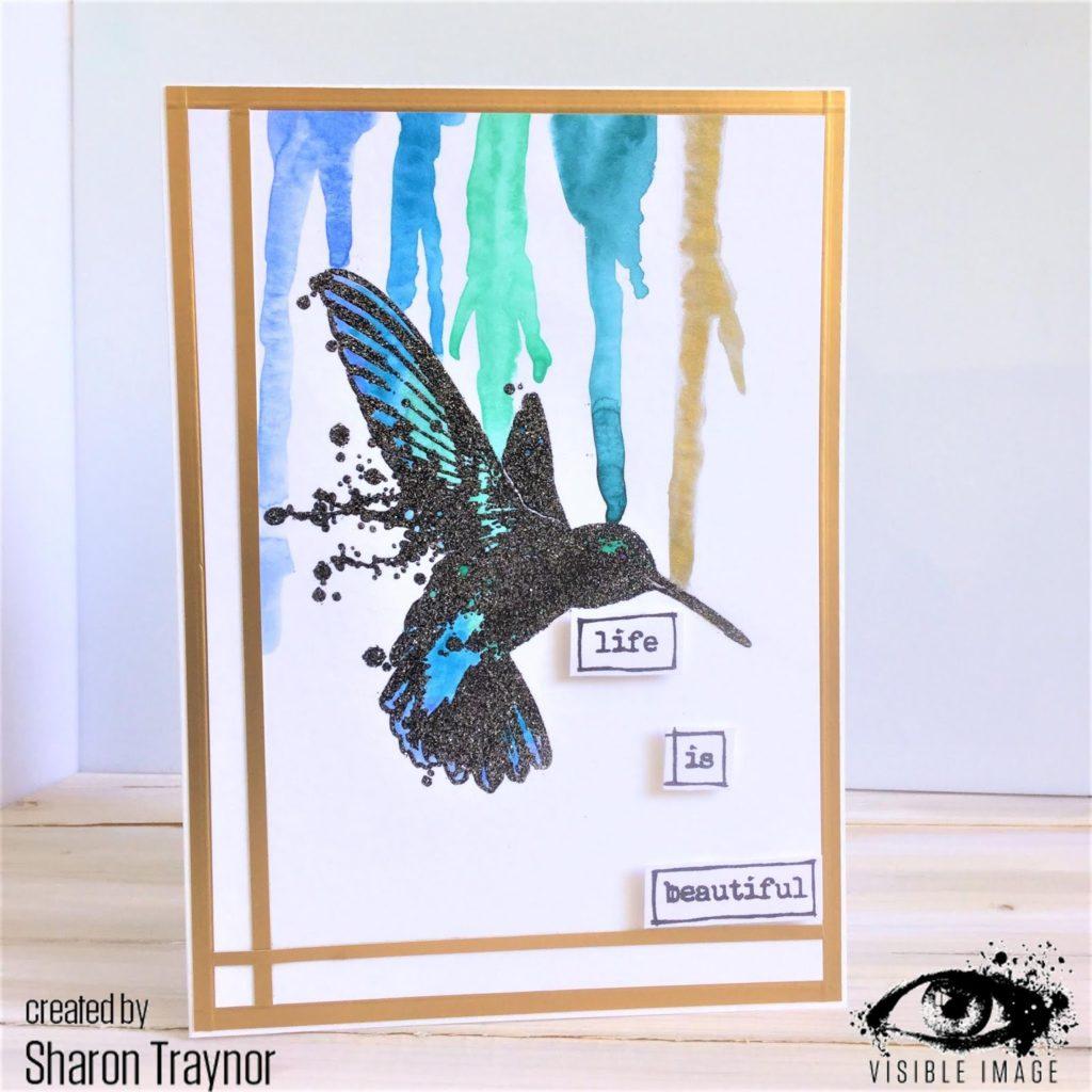 hummingbird stamp - visible image - Sharon Traynor