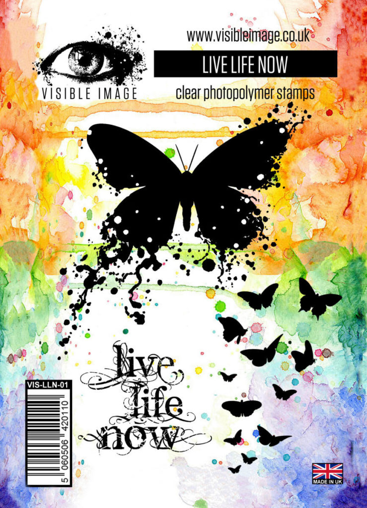 inky butterfly stamp - grungy - stamps - visible image