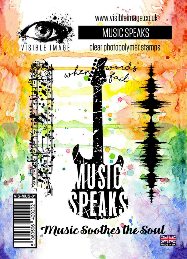 guitar stamp | music | sound wave