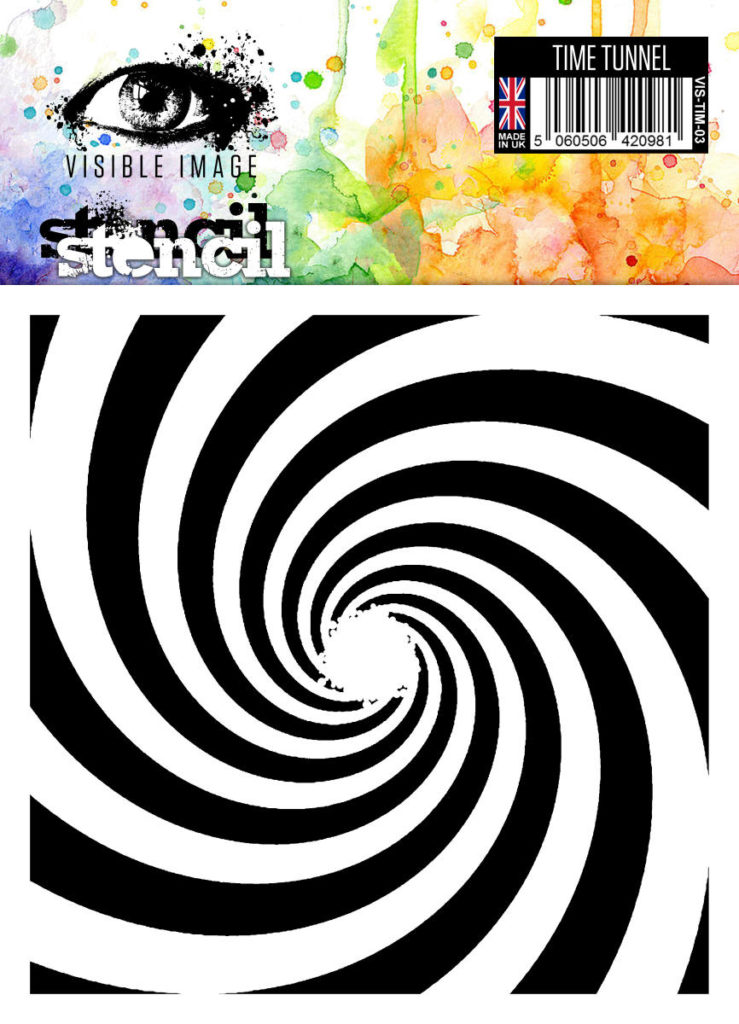 time tunnel - spiral - stencil - visible image