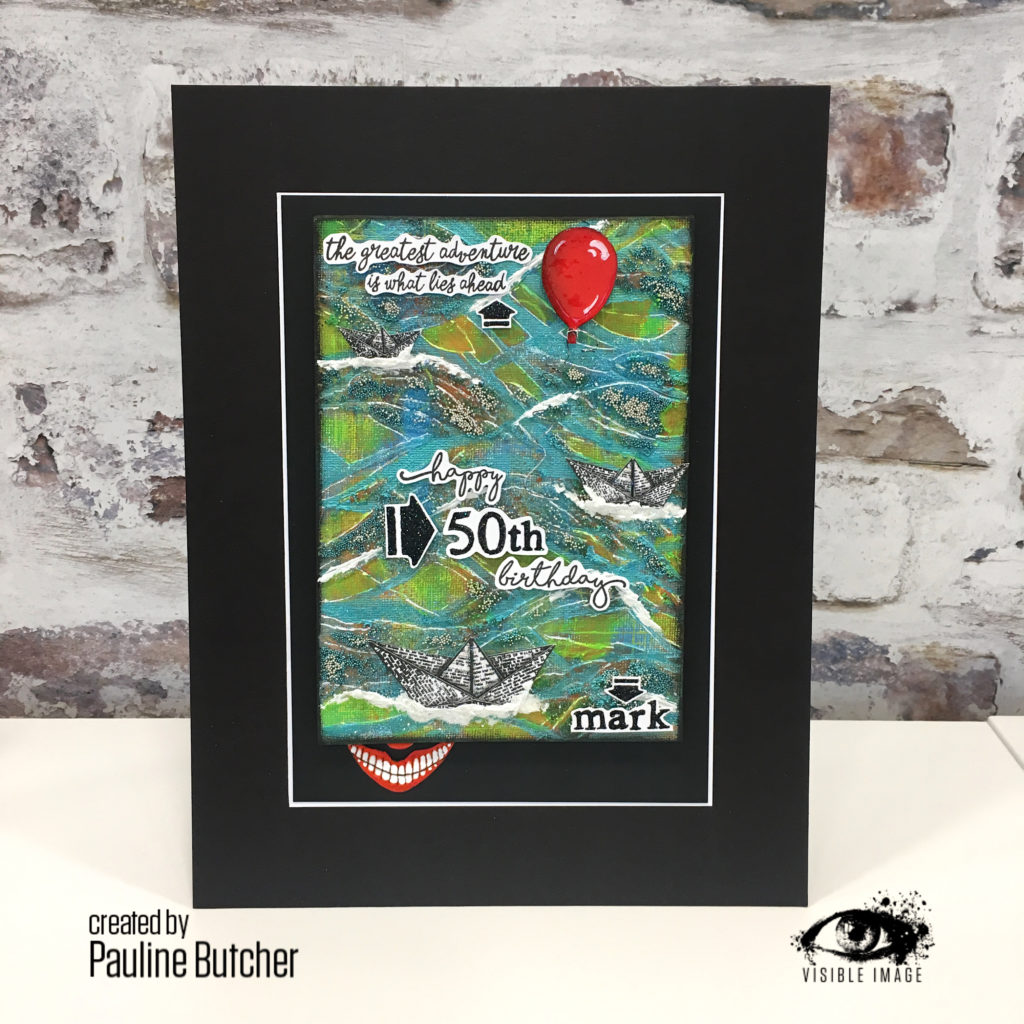 plaque inspired by stephen kings it - paper boat stamps