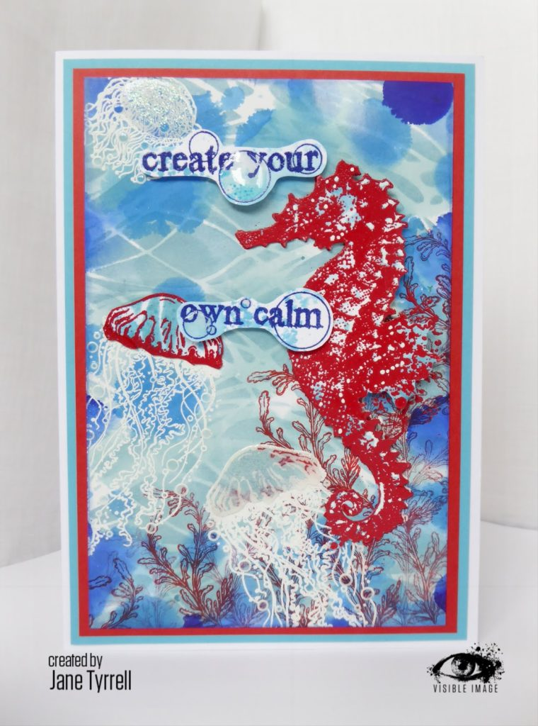 under the sea themed card