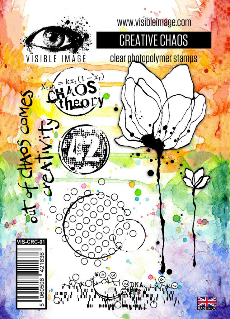 mixed media stamps | inky flower | background elements