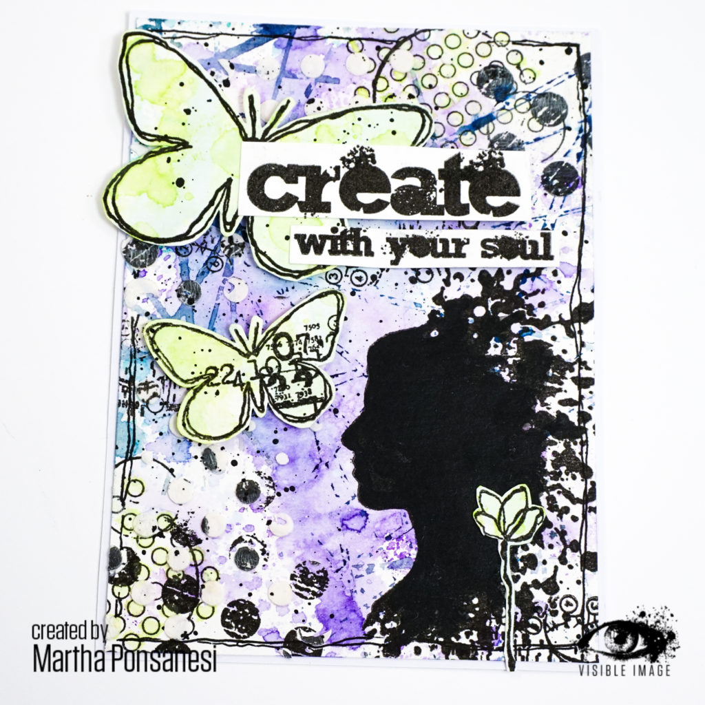 create with your soul | sentiment stamp