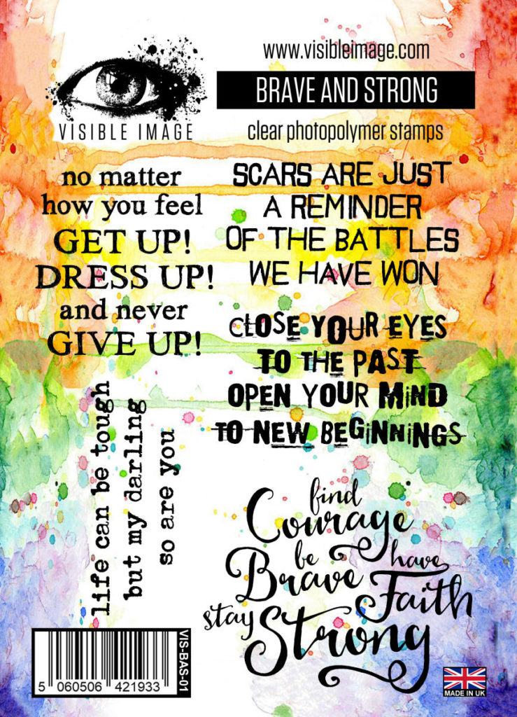 Brave | Strong | Courage | Scars | Sentiment Stamps