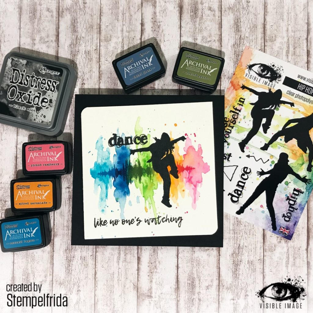 dance stamps - hip hop - teenage girl - card
