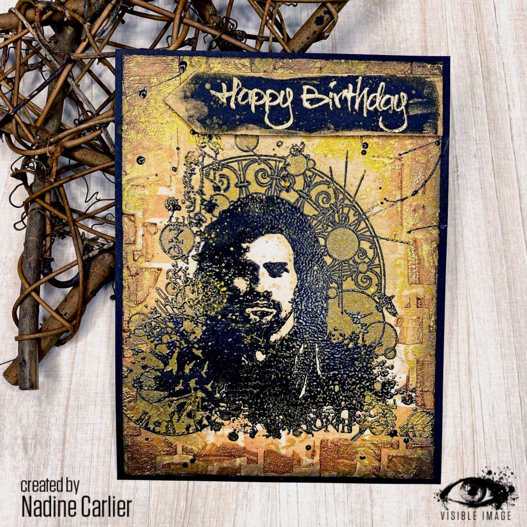 masculine card | musketeer stamp | grunge