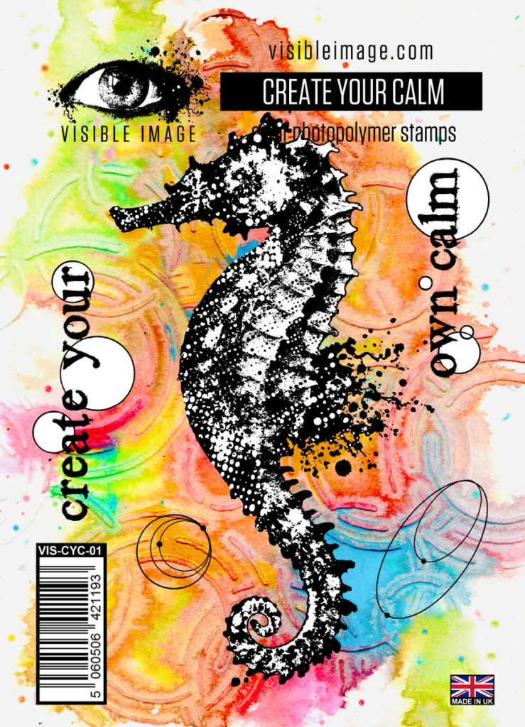 seahorse stamp | underwater | create your own calm