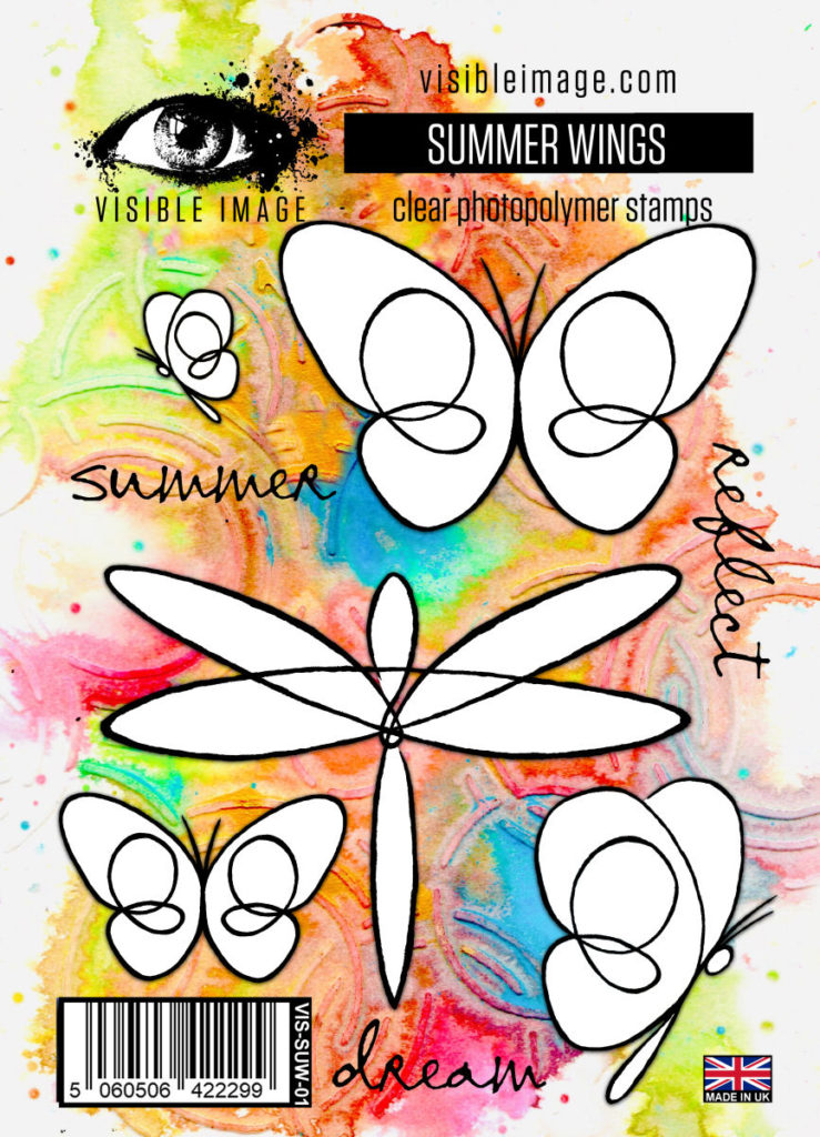 summer stamps | butterfly | dragonfly | line drawings