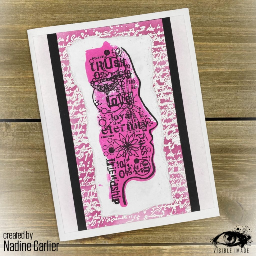 face stamp | love is love | script | embossing | card