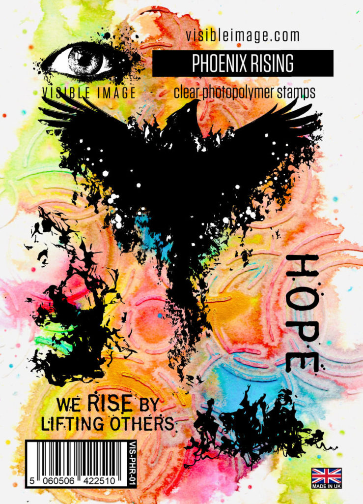 phoenix stamp | hope | flames | rise by lifting others quote