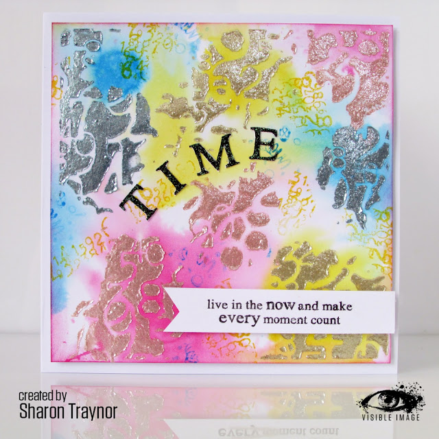 vibrant time themed card