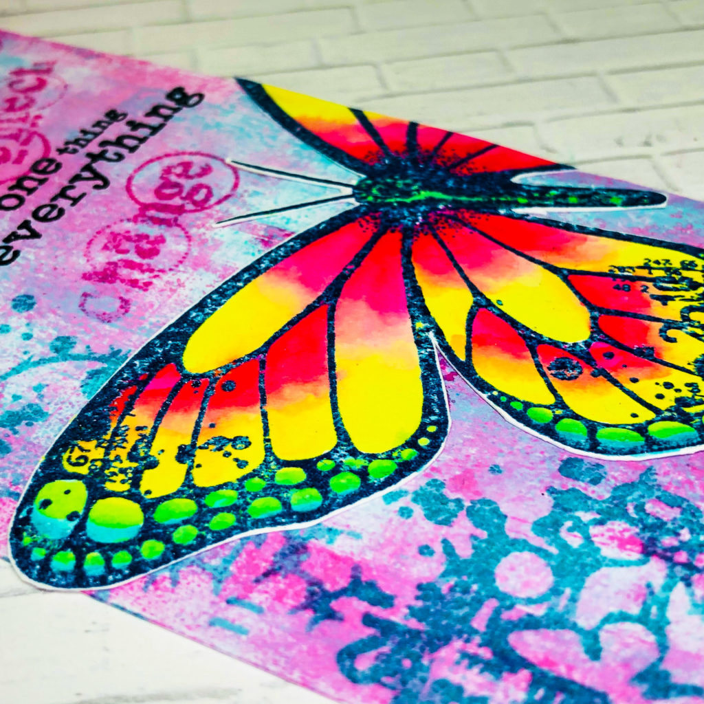 big butterfly stamp | handmade tag